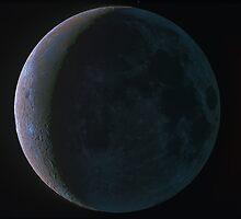 Color Moon with Ashen Glow by Igor Chekalin