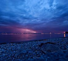 """Lightning Storm over lake """"Bodensee"""" - South Germany by JEPhotography"""