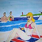 Saucy Seaside postcard  by GEORGE SANDERSON