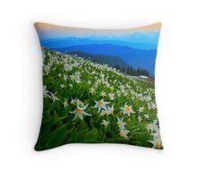 Flower Avalanche Throw Pillow
