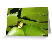 Lily's Pad Greeting Card
