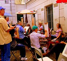 Artists at work in Montmartre! by Rusty  Gladdish