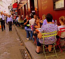 Street life in Montmartre, Paris! by Rusty  Gladdish