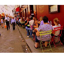 Street life in Montmartre, Paris! Photographic Print