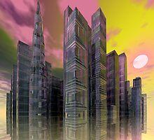 City of Glass by Sandra Bauser Digital Art