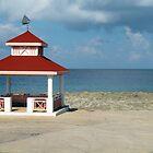 Gazebo by the Caribbian Sea by Rosalie Scanlon