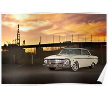 Cream Ford Falcon XM Coupe Poster