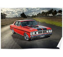 Red Ford XY GT Replica Poster