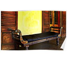 Old Leather Recliner Poster