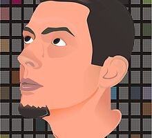 vectorial self-portrait  by DanielBorza
