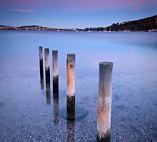 Winter Dusk - Cornelian Bay, Hobart, Tasmania by Liam Byrne