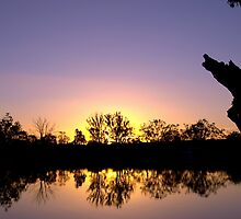 Mirror image - sunset reflected by Helen Vercoe