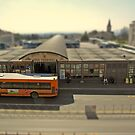 Piazza Partigiani, Perugia's bus station, Italy (a tilt-shift simulation) by Philip Mitchell