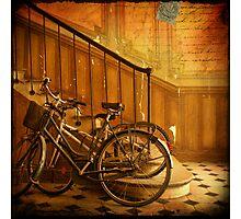 Bikes in a Parisian Foyer Photographic Print