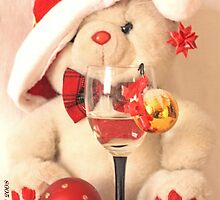 Mr Teddy Bear  survives the  office Christmas party by pogomcl