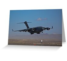 C-17 Globemaster III landing during 2009 Aviation Nation Greeting Card