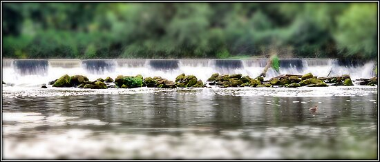 Sprotbrough Falls - Tilt Shift by Paul  McIntyre