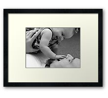 LIFE LESSON #2 - Actions are Louder than Words Framed Print