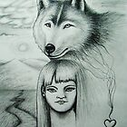 Wolf and Child by Line Svendsen