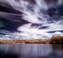Stilec Pond in IR by Ethem Kelleci