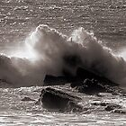 Wave and Rocks by Bob Wall