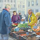 Selling vegetables at the market by Dominique Amendola by Dominique Amendola