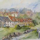 Sandsend Cottages, nr Whitby by artbyrachel
