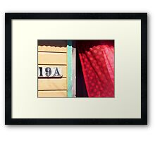 Lace Curtains Blowin' In a Summer Breeze Framed Print