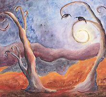Moon Tree (Autumn) by Lesley Atlansky
