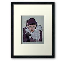 Zoe dresses as 'Dolly Haas' Framed Print