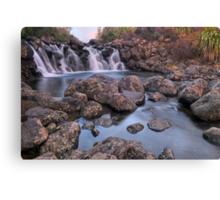 Waterfall Sunset Canvas Print