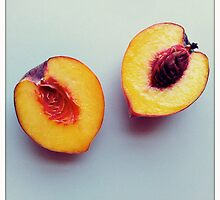 just peachy keen - a cut peach by alliteration