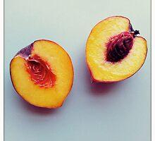 just peachy keen - a cut peach by alliteration