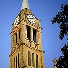 St. Dennis Church Steeple & Clock by MarjorieB