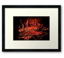 Red New Year Framed Print