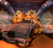 Inferno - Lincoln Continental in Tunnel by Mark Richards