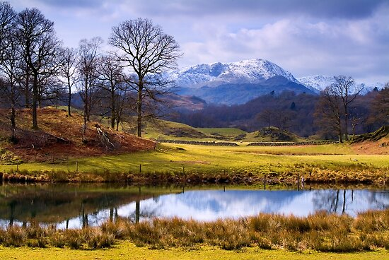 Wetherlam from The Brathay - The Lake District by Dave Lawrance