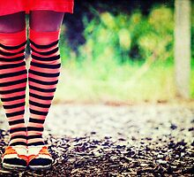 Stripy socks by Sharonroseart
