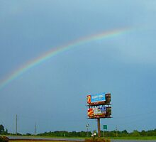 Rainbow over Motel 8 - Perryville Missouri! by barnsis