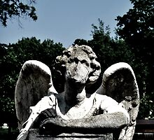 Angel Statue - Graceland Cemetery by Don Giammarrusco