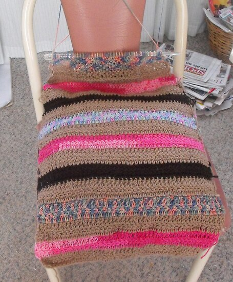 Crochet cushion chair cover by 4spotmore redbubble - Crochet chair cover pattern ...