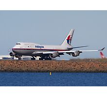 Malaysian B747-400  Photographic Print
