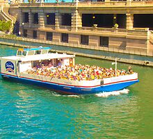 Chicago River Tour Boat by Outsanity