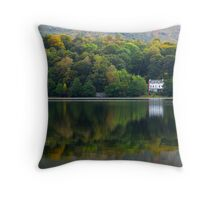 Autumn Woodland - Grasmere, Cumbria, England Throw Pillow