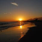 Sunset in Santa Barbara, California by indeannajones