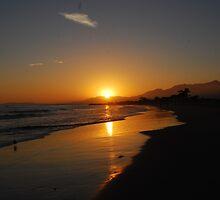 Sunset in Santa Barbara, California by indeannajones