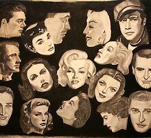 """"""" Famous Faces of Films Past"""" by artbyjay"""