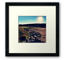 Sand Beach Sunlight Framed Print