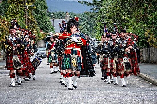 Queens Royal Guards, Ballater Scotland by Simon Duckworth