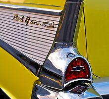 BelAir tail fin in yellow by Jeffrey  Sinnock